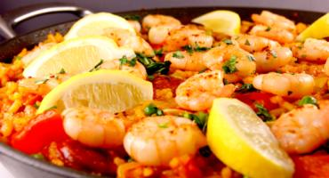 Chicken, Chorizo and King Prawn Paella