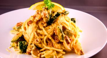 Pancetta and Courgette Spaghetti Carbonara