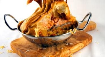 Salmon and Couscous Filo Parcels
