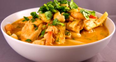 Thai Red Curry with Chicken and King Prawns